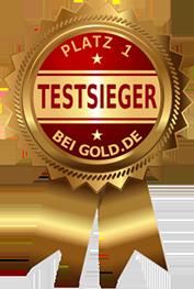 Siegel Testsieger Gold.de