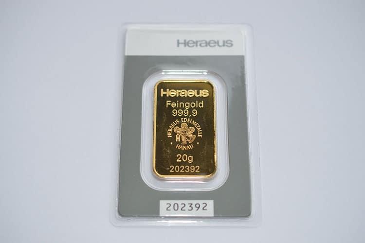 Goldverkauf von Goldbarren und Goldmünzen