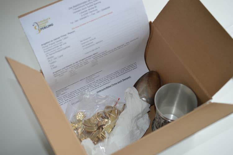 Post-Goldankauf, Briefgold, Schmuckversand