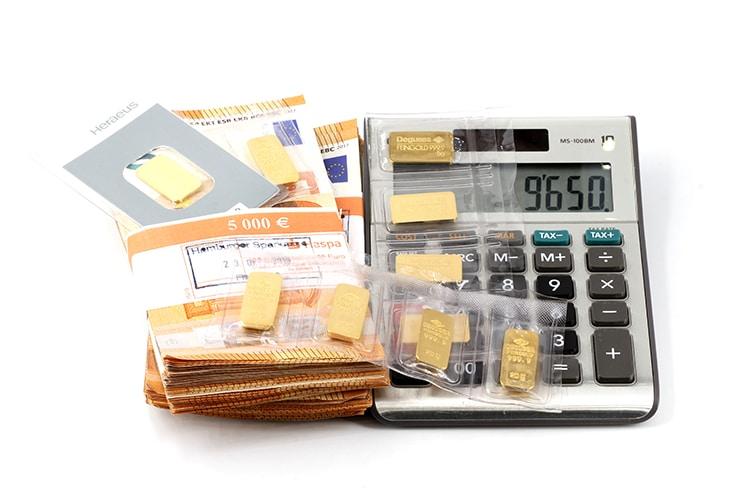 Goldbarren Wert 1g, 5g, 10g, 50g, 100g & 1kg