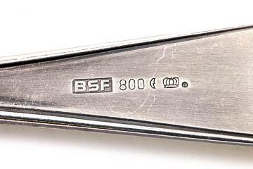 Silberbesteck 800 Halbmond Krone