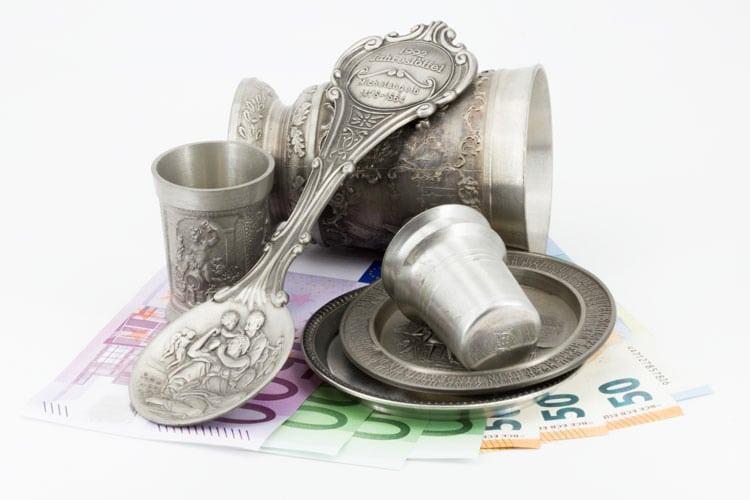 Zinnpreise Ankauf in Euro